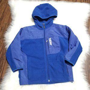 CCM | Blue Fleece Zippered Hoodie Jacket Coat 5